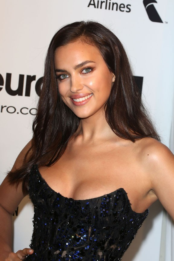 Irina Shayk à l'after-party d'Elton John le 2 mars 2014