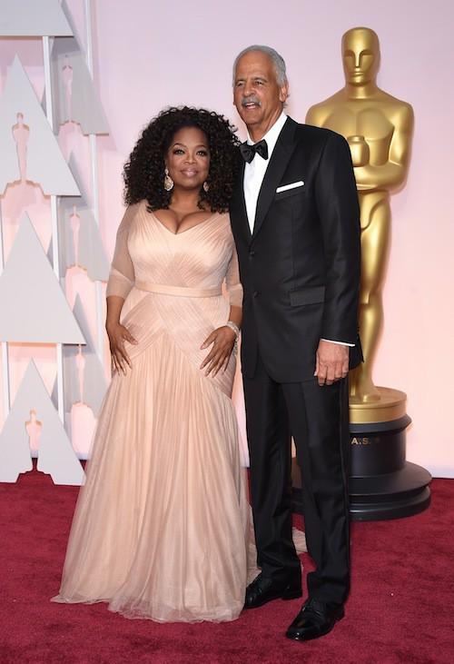 Oscars 2015 : Oprah Winfrey et Stedman Graham