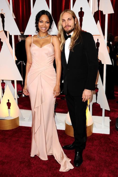 Oscars 2015 : Zoe Saldana et Marco Perego