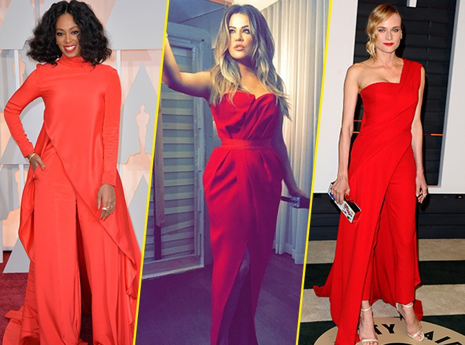 Oscars 2015 : Solange Knowles, Khloe Kardashian, Diane Kruger : du rouge sinon rien, Beyonc� donne son avis !
