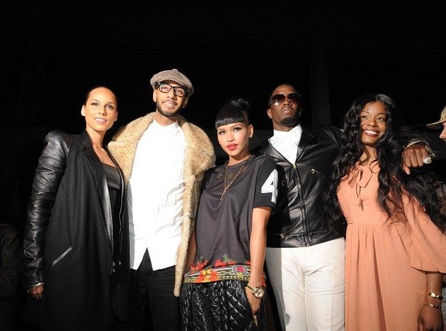 Alicia Keys, Swizz Beatz, Cassie et P.Diddy lors du défilé Kanye West à Paris, le 6 mars 2012.
