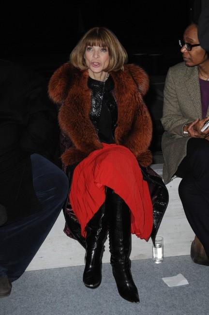 Anna Wintour lors du défilé Kanye West à Paris, le 6 mars 2012.