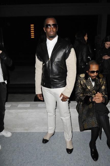 P.Diddy lors du défilé Kanye West à Paris, le 6 mars 2012.