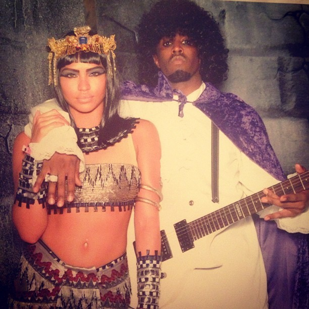 P. Diddy déguisé en compagnie de Cassie !