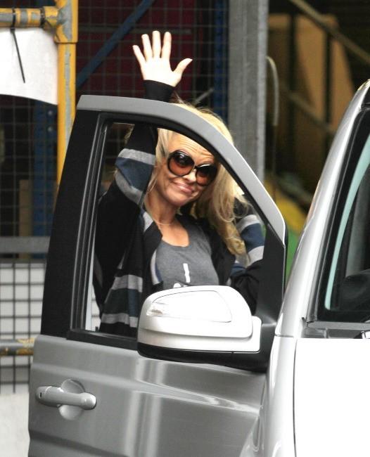 Pamela Anderson le 7 janvier 2013 à Londres