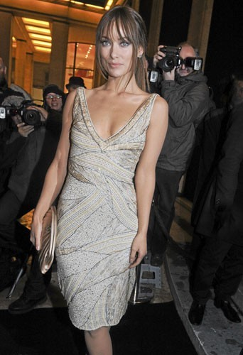Fashion Week de Paris : Olivia Wilde au défilé Giorgio Armani