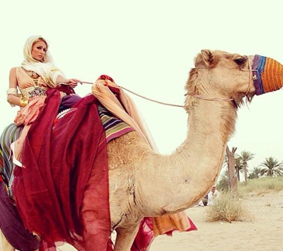 Paris Hilton et son chameau !