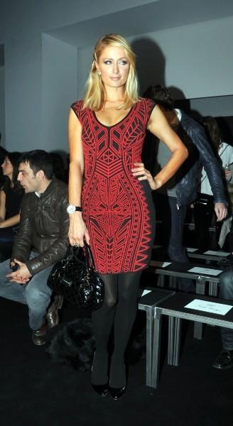 Paris Hilton lors du défilé Mango à Barcelone, le 28 janvier 2013.