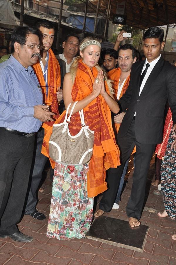 Paris Hilton à Mumbaï, en Inde, le 3 décembre 2012