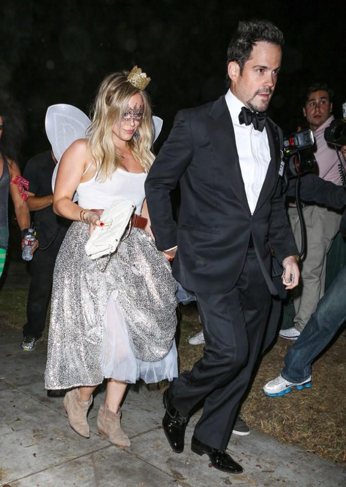 Hilary Duff et Mike Comrie à la soirée Halloween organisée le 24 octobre 2014 à Beverly Hills