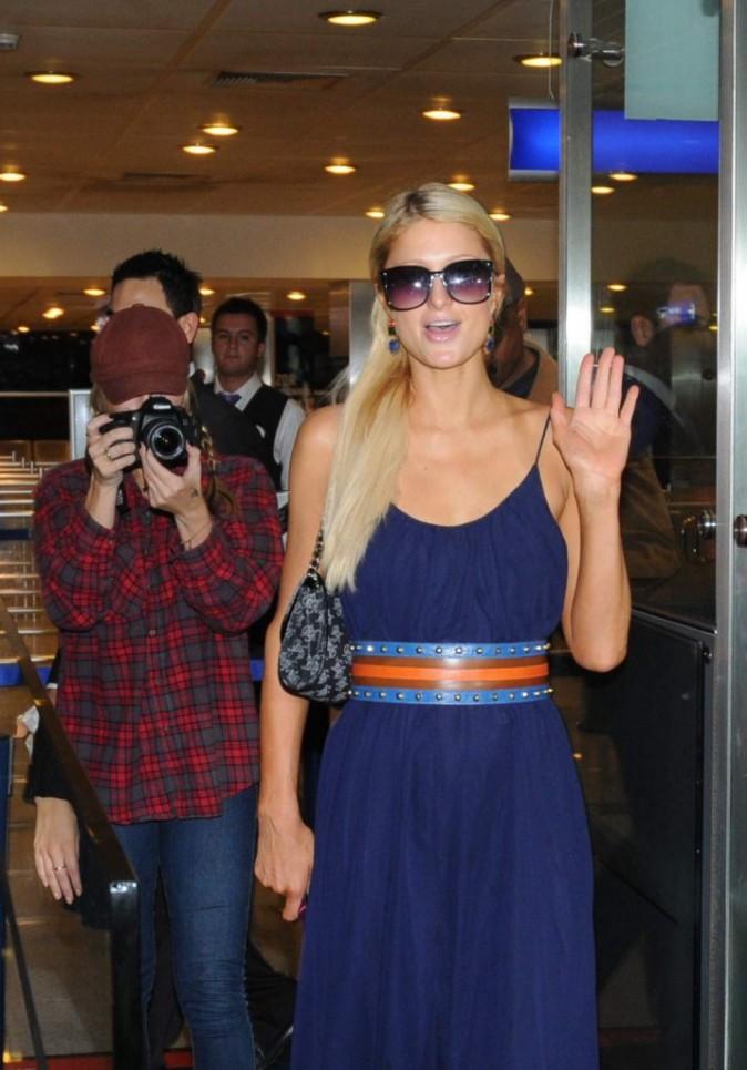 Paris Hilton à l'aéroport d'Ataturk à Istanbul, le 21 septembre 2011.