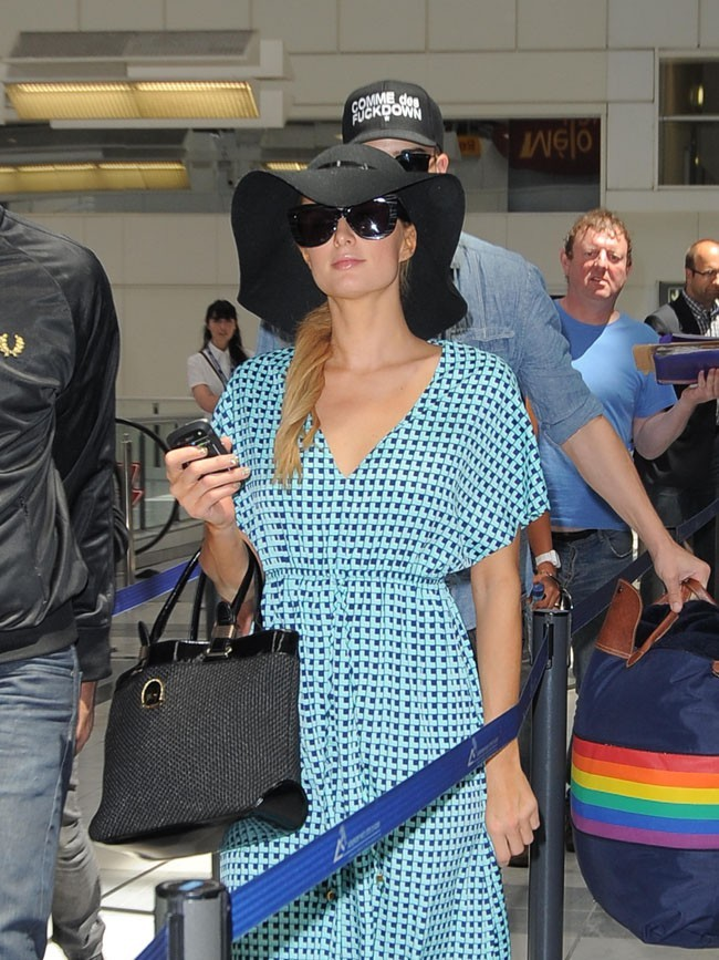 Paris Hilton le 24 mai 2013 à l'aéroport de Nice