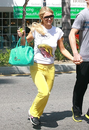 Paris Hilton et River Viiperi à Studio City le 4 avril 2013