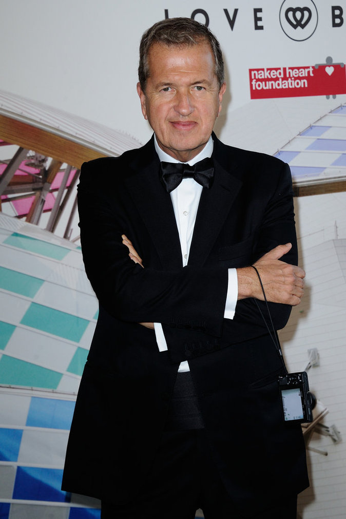 Mario Testino au Love Ball à Paris, le 6 juillet 2016