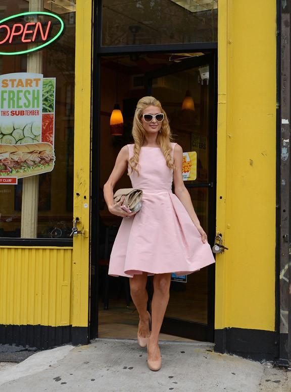 Paris Hilton à New-York le 8 septembre 2014
