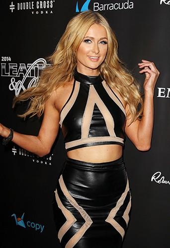 Paris Hilton à New-York le 31 janvier 2014