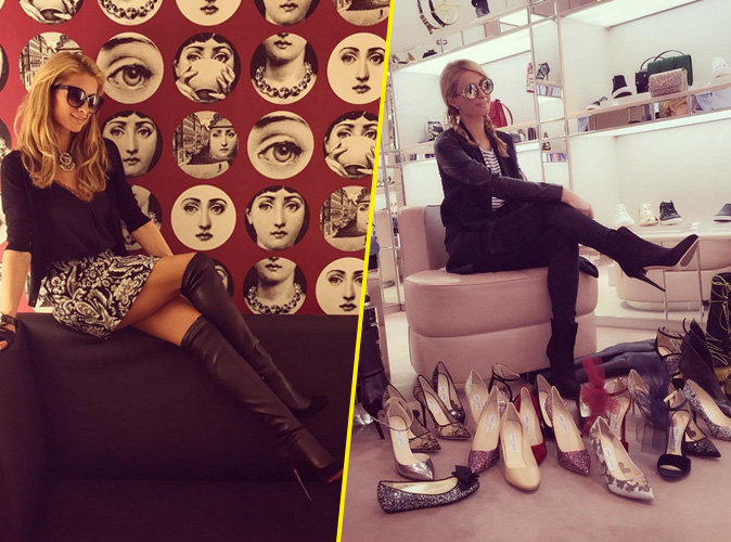Paris Hilton prend du bon temps en Suisse