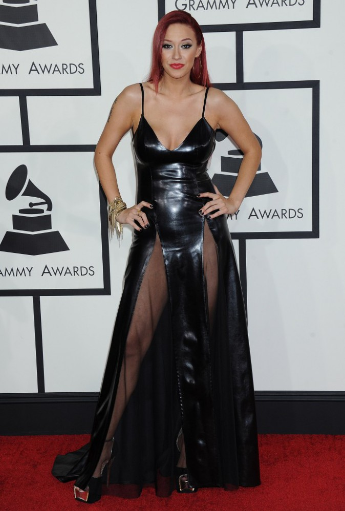 Kaya Jones à la 56ème cérémonie des Grammy Awards à Los Angeles en 2010