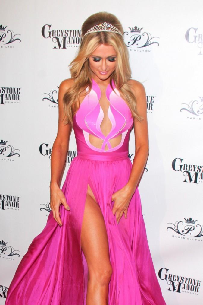Paris Hilton à sa soirée d'anniversairele 15 février 2014
