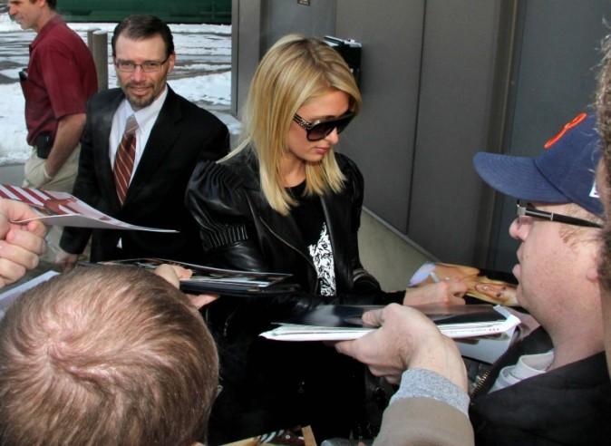 Paris Hilton et River Viiperi, Salt Lake City, 18 janvier 2013.