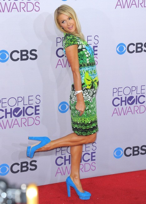Paris Hilton lors de la soirée des People's Choice Awards, le 9 janvier 2013.
