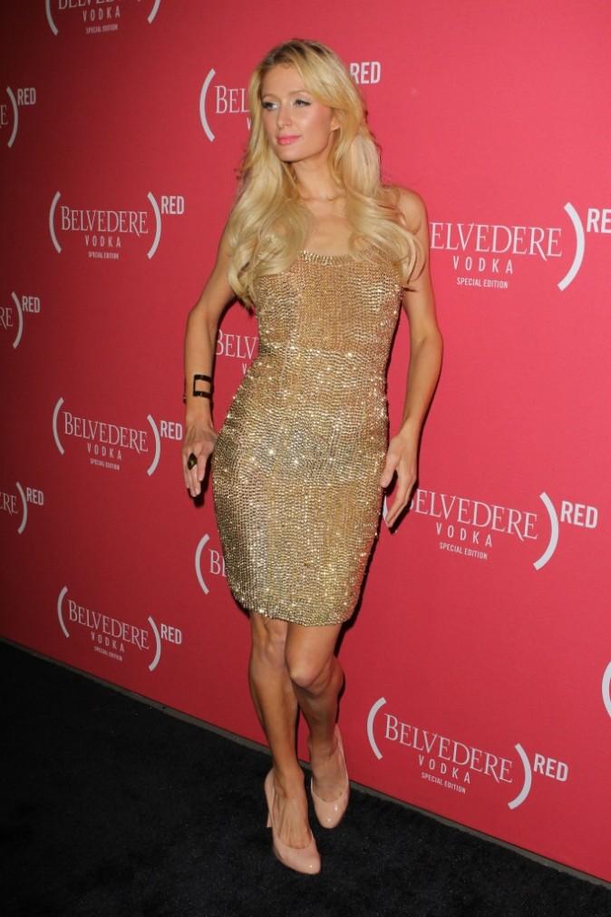 Paris Hilton lors de la soirée Belvedere Red Pre-Grammy's Party à Los Angeles, le 9 février 2012.