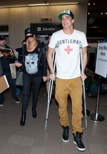 Paris Hilton et River Viiperi le 17 février 2013 à Los Angeles