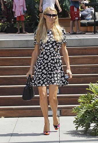Paris Hilton à Malibu le 6 juillet 2013