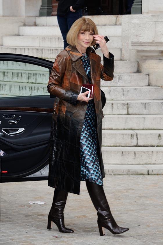 Anna Wintour à Paris le 9 mars 2015