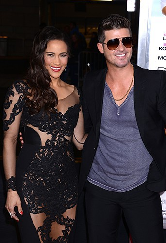 Paula Patton et Robin Thicke à Los Angeles le 25 septembre 2013