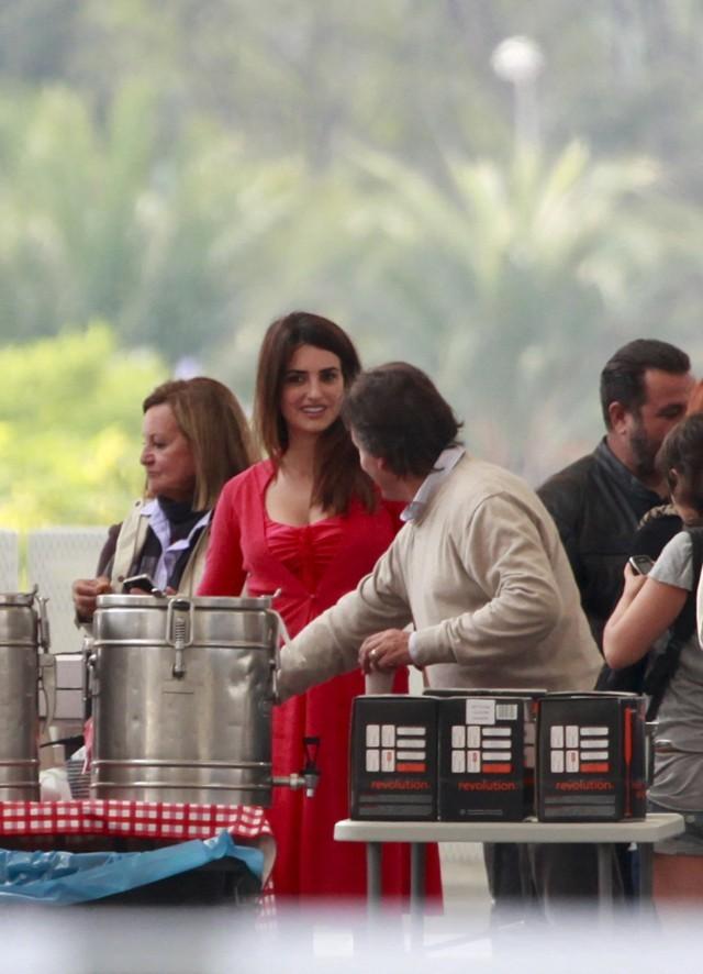 Penelope Cruz sur le tournage de The Counselor à Alicante le 27 septembre