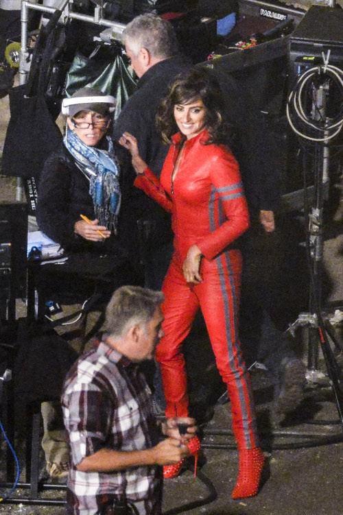 Penelope Cruz sur le tournage de Zoolander 2 à Rome le 26 avril 2015