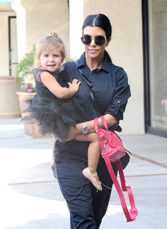 Penelope Disick et Kourtney Kardashian le 28 mai 2015