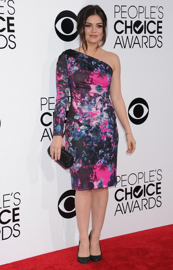 Lucy Hale à la cérémonie des People's Choice Awards organisée à Los Angeles le 8 janvier 2014