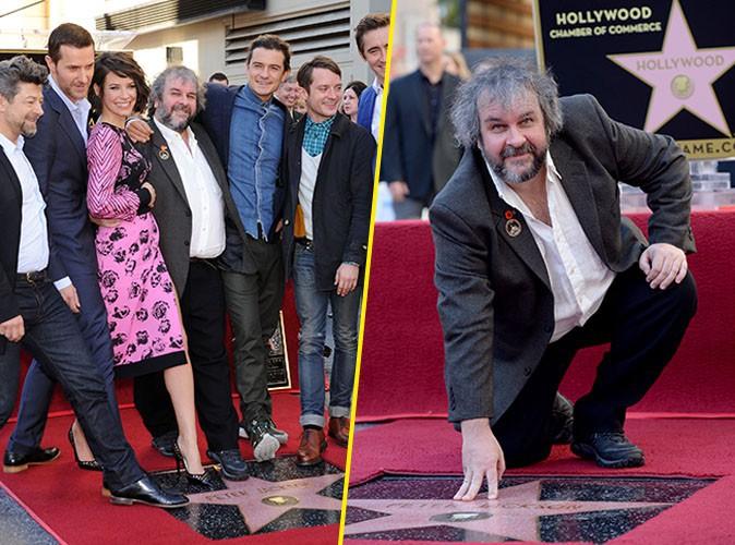 Peter Jackson, Evangeline Lilly, Elijah Wood, Andy Serkis et Richard Armitage le 8 décembre 2014
