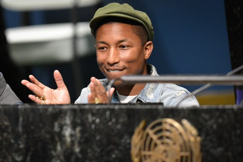 Pharrell Williams à New-York le 20 mars 2015