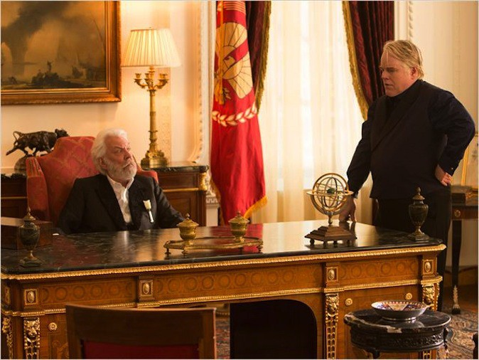 Philip Seymour Hoffman dans Hunger Games : L'embrasement !