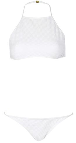 Bikini blanc façon brassière 16€