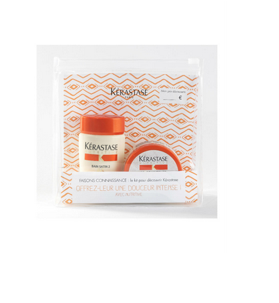 Kit Kérastase Nutritive : Trousse format cabine incluant Bain Satin 2 + Masquintense cheveux épais, pour nourrir ses cheveux même en vacances......