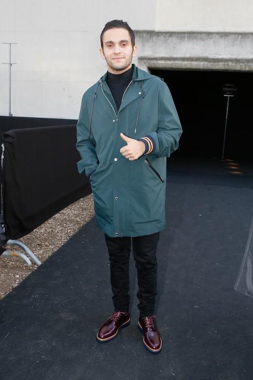 Malik Bentalha au défilé Dior Homme le 24 janvier 2015