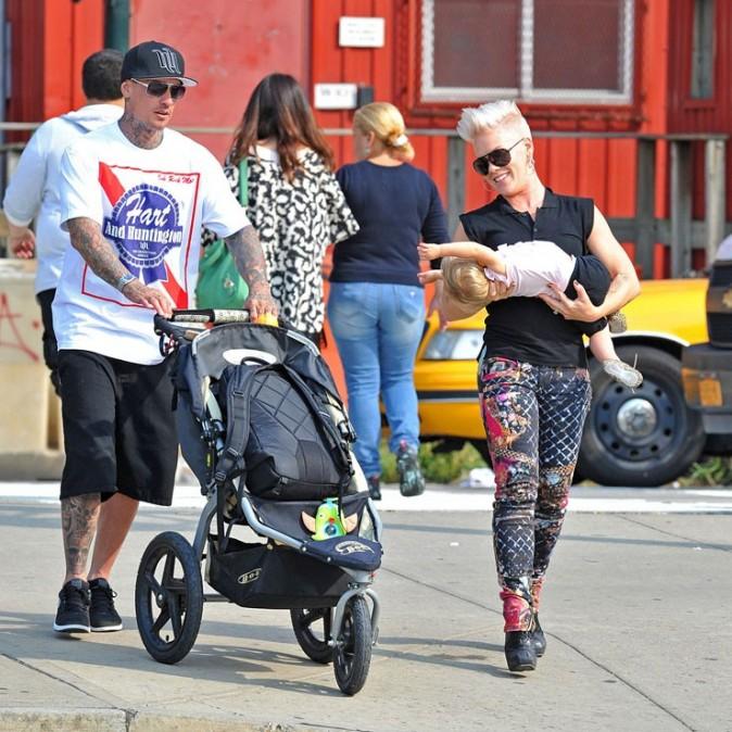 Pink en famille à New-York le 17 septembre