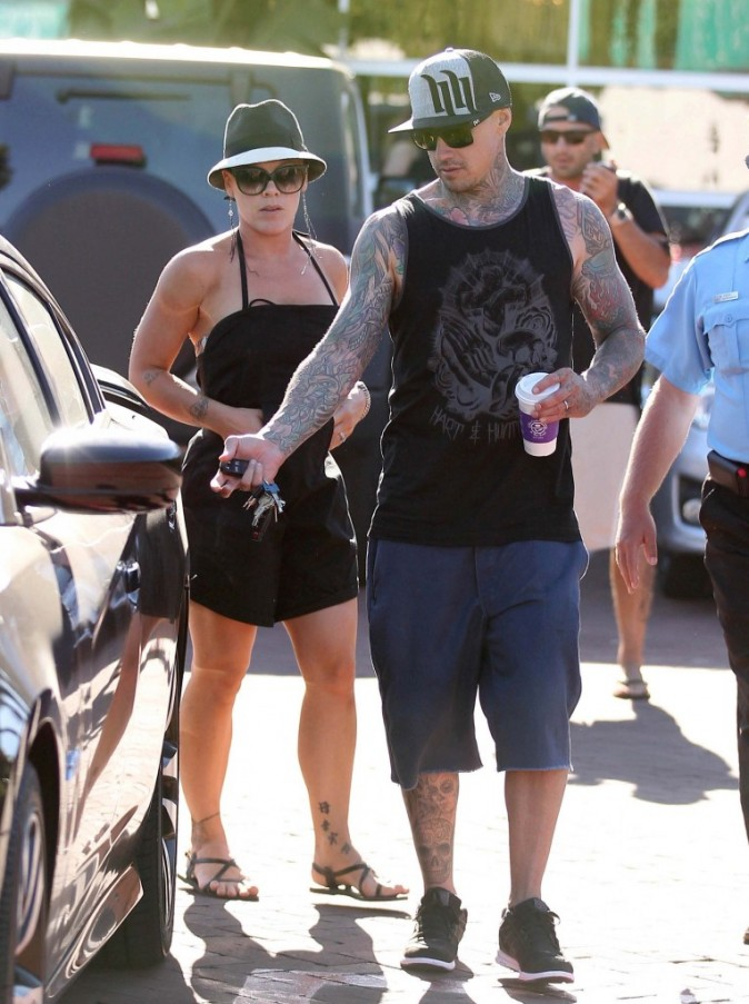 Pink et sa fille Willow Sage, Malibu, 2 aout 2012
