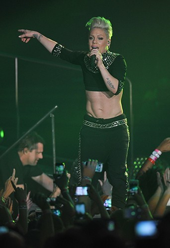 Pink en concert à Manchester le 14 avril 2013
