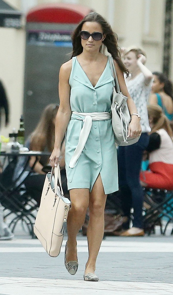 Pippa Middleton quittant ses bureaux londoniens le 4 septembre 2013