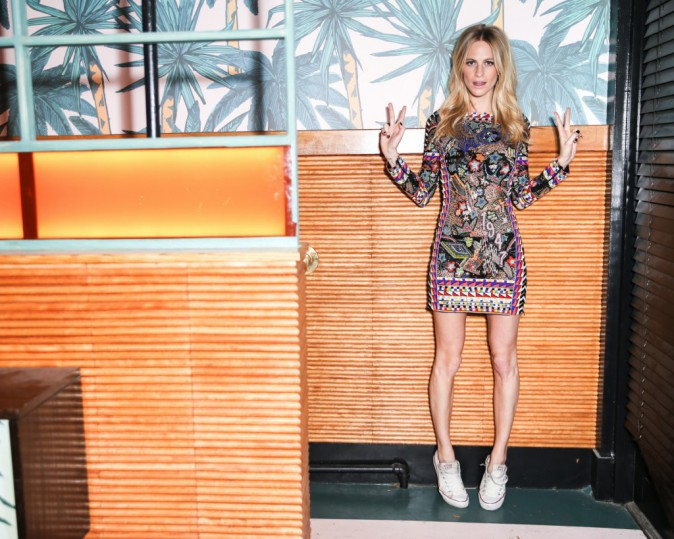 Poppy Delevingne à la soirée de lancement Solid & Striped, à New York le 12 novembre 2014