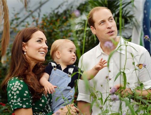 Le prince George avec Kate et William sur les clichés pris en juillet 2014 pour ses un an