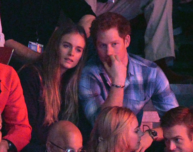 Cressida Bonas et le Prince Harry à Wembley le 7 mars 2014