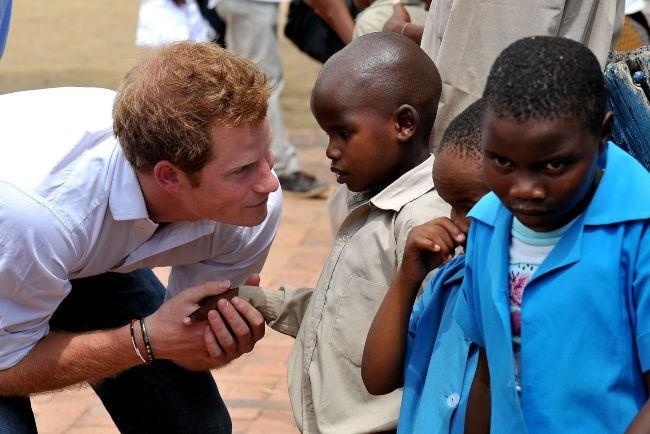 Le Prince Harry le 27 février 2013 au Lesotho