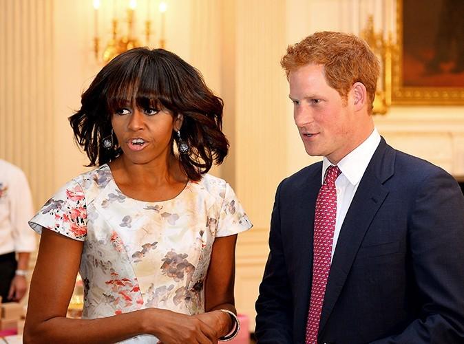 Le Prince Harry et Michelle Obama à Washington le 9 mai 2013