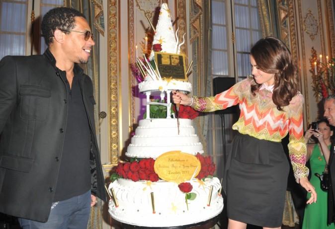Joey Starr et Bérénice Béjo lors de la remise des prix Romy-Schneider et Patrick-Dewaere à Paris, le 11 juin 2012.